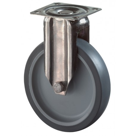 Stainless steel apparatus castor