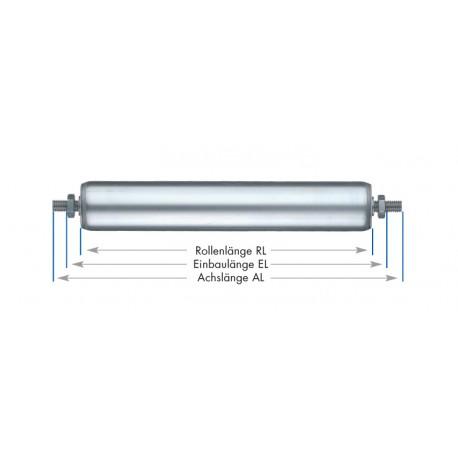 Rouleaux de support tubes en acier zingué