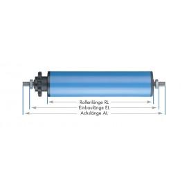Rouleaux porteurs entrainés tubulaires en plastique bleu