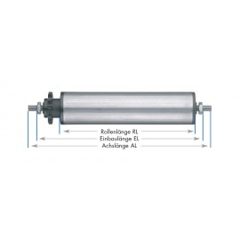 Rouleaux de support entraînés - tubes en acier blanc