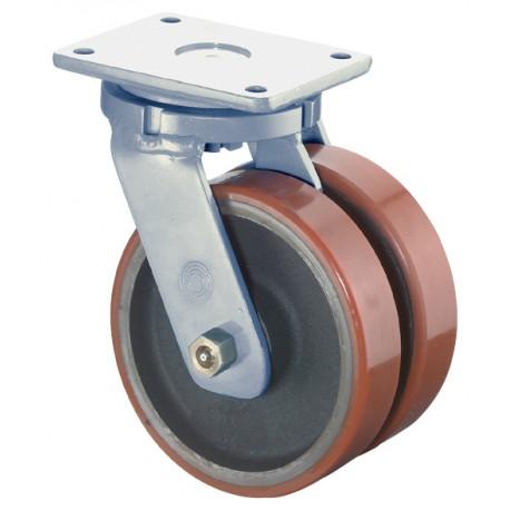 Roulettes doubles pour charges lourdes