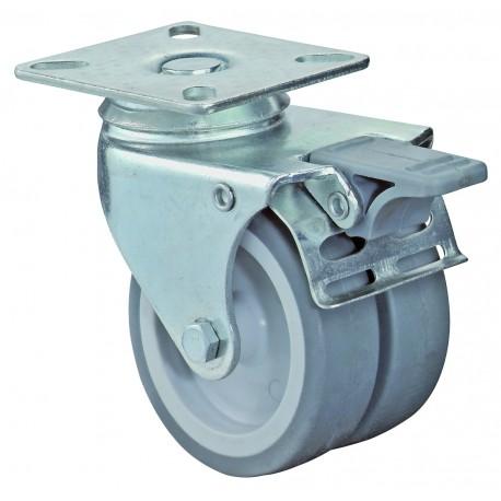 Dual apparatus castor
