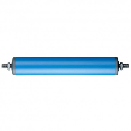 Rouleaux porteurs tubulaires en plastique bleu