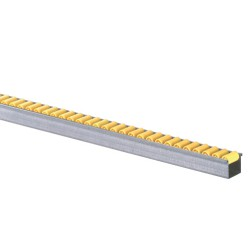 Mini roller tracks with standard rollers D. 13 mm