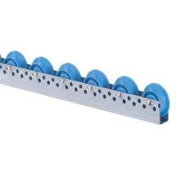 Roller tracks with flanged plastic rollers D. 48/66 mm