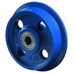 Flanged wheel