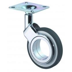 Roulette design pivotante à tige filetée