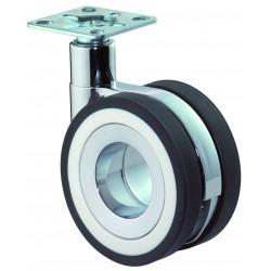 Roulette design double pivotante