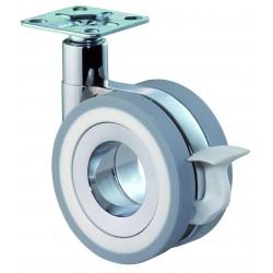 Roulette design double avec frein