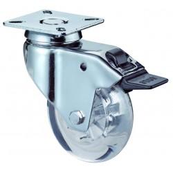 Swivel castor with brake