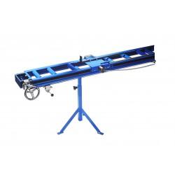 Convoyeur à rouleaux avec règlage de la chaine et roue avec serrage pneumatique