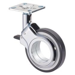 Roulette design pivotante avec frein