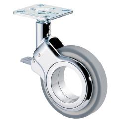 Design swivel castor with brake
