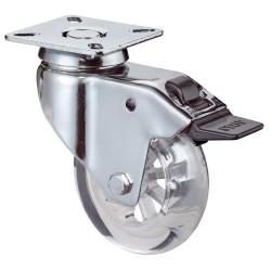 Swivel castor with total brake