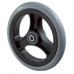 Malfunction-free rubber wheel